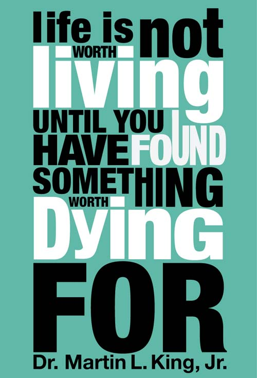 Inspirational picture quote - life is not worth living until ...